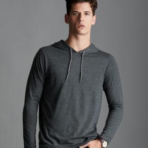 Anvil Fashion Basic Long Sleeve Hooded T-Shirt AV108