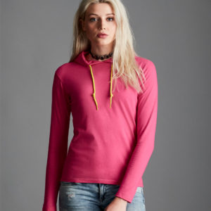 Anvil Ladies Fashion Basic Long Sleeve Hooded T-Shirt AV108F
