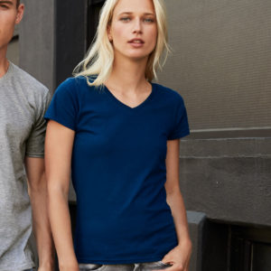 Anvil Ladies Fashion Basic V Neck T-Shirt AV106F