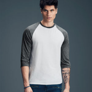 Anvil Tri-Blend 3/4 Sleeve Raglan T-Shirt AV172