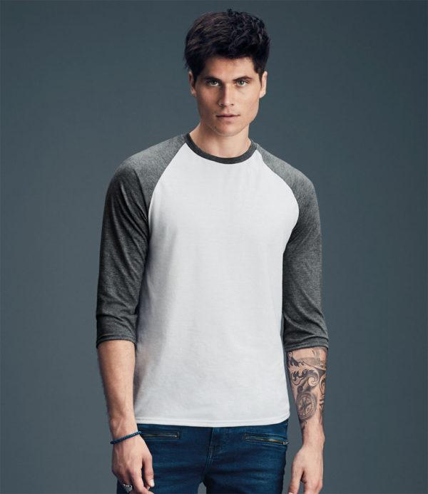 Anvil Tri-Blend 3/4 Sleeve Raglan T-Shirt AV172