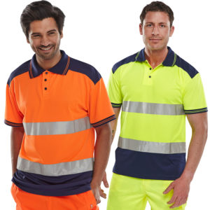 B-Seen Hi Vis 2-Tone Polo Shirt CPKSTTEN