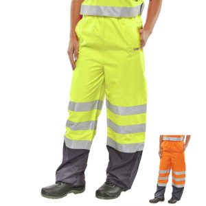 B-Seen Hi Vis Belfry Breathable Over Trousers BET