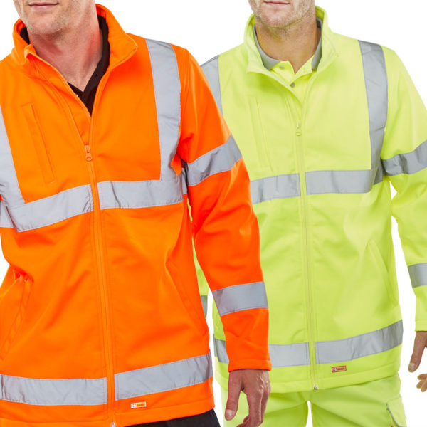 B-Seen Hi Vis Lightweight Softshell Jacket SS20471