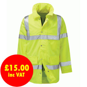 Black Knight Geraint Waterproof Hi-Vis Jacket
