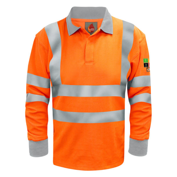 Black Knight Quantum Inherent FR ARC Long Sleeve Polo Shirt
