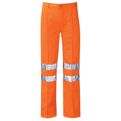 Delta High Vis Rail Poly-Cotton Work Trousers