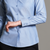 Disley Ladies Oxford Blouse Long Sleeve Blue