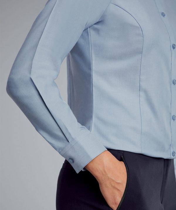 Disley Ladies Oxford Blouse Long Sleeves