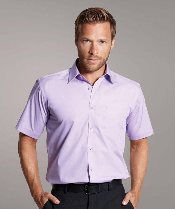 Disley Larne Cotton Rich Short Sleeve Shirt Lilac