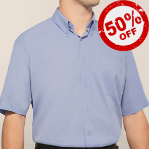 Disley Mens End On End Shirt Button Down Collar