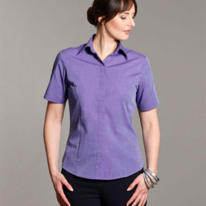 Disley Womens Edie End on End Blouse Purple