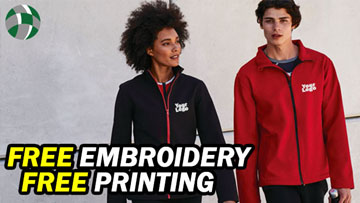FREE Embroidery and Print Footer