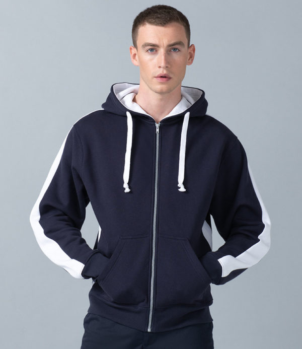 Finden & Hales Contrast Zip Hooded Sweatshirt LV330
