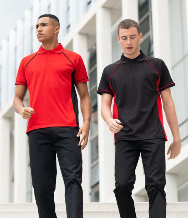 Finden & Hales Performance Panel Polo shirt LV310