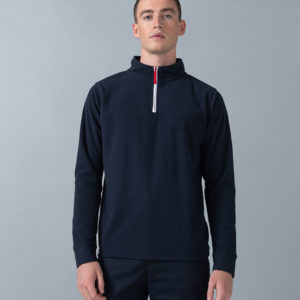 Finden & Hales Piped Zip Neck Fleece LV570