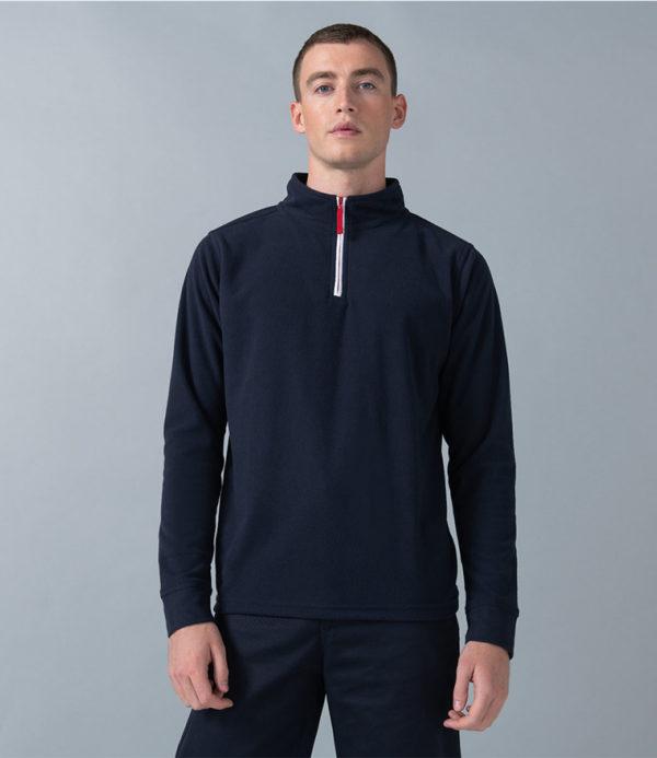 Finden & Hales Piped Zip Neck Fleece LV570