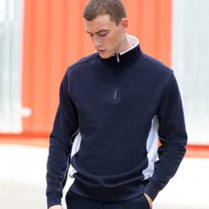 Finden & Hales Zip Neck Sweatshirt LV338