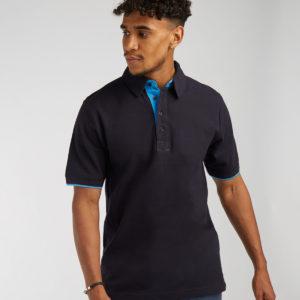 Front Row Contrast Cotton Pique Polo Shirt FR200