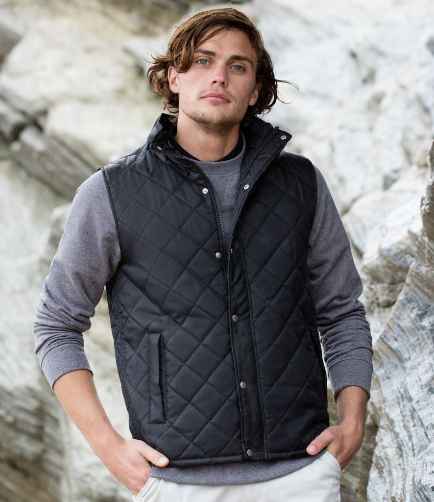 Front Row Diamond Quilted Gilet FR903
