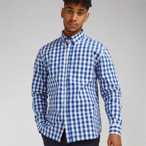 Front Row Long Sleeve Checked Cotton Shirt FR500