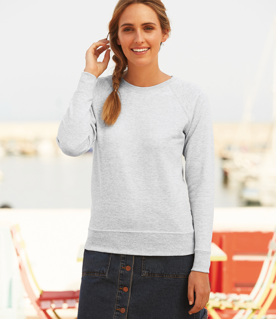 Fruit of the Loom Lady Fit Lightweight Raglan Sweatshirt SS180