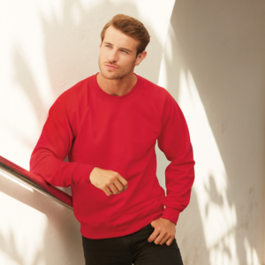 Fruit of the Loom Lightweight Raglan Sweatshirt SS120