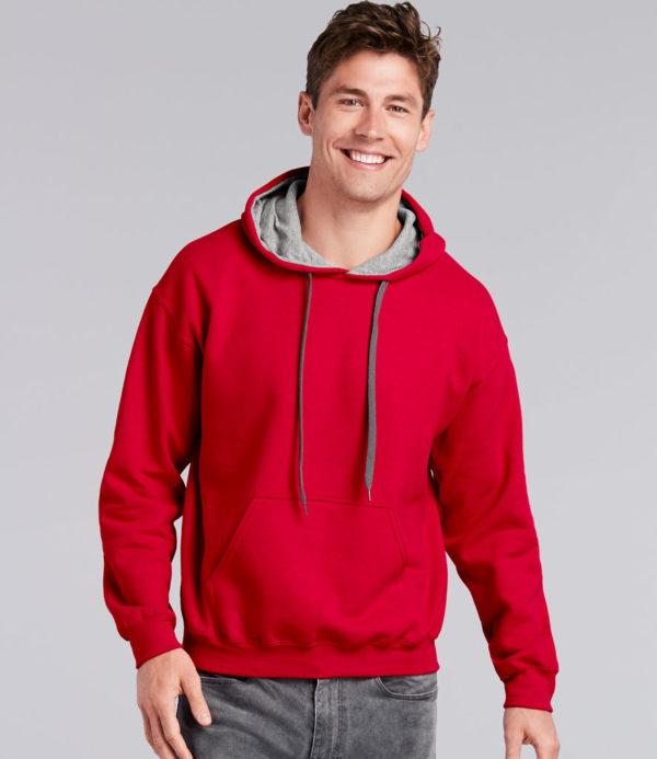 Gildan Heavy Blend Contrast Hooded Sweatshirt GD55