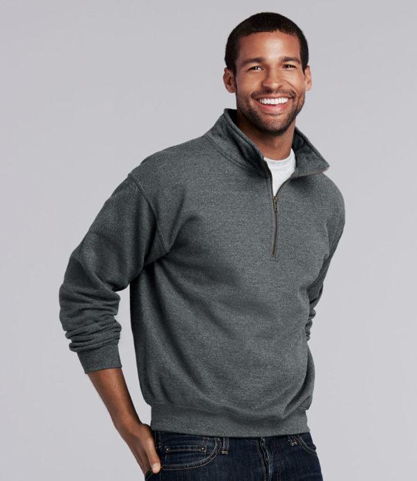 Gildan Heavy Blend Vintage Zip Neck Sweatshirt GD61
