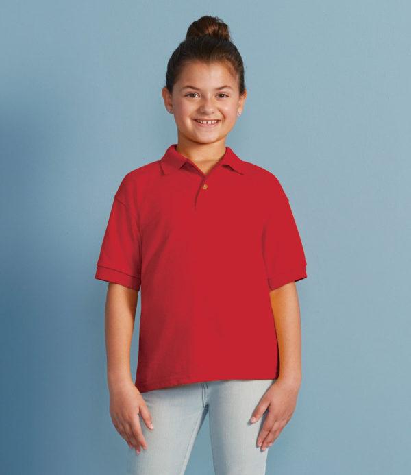 Gildan Kids DryBlend Jersey Polo Shirt GD40B