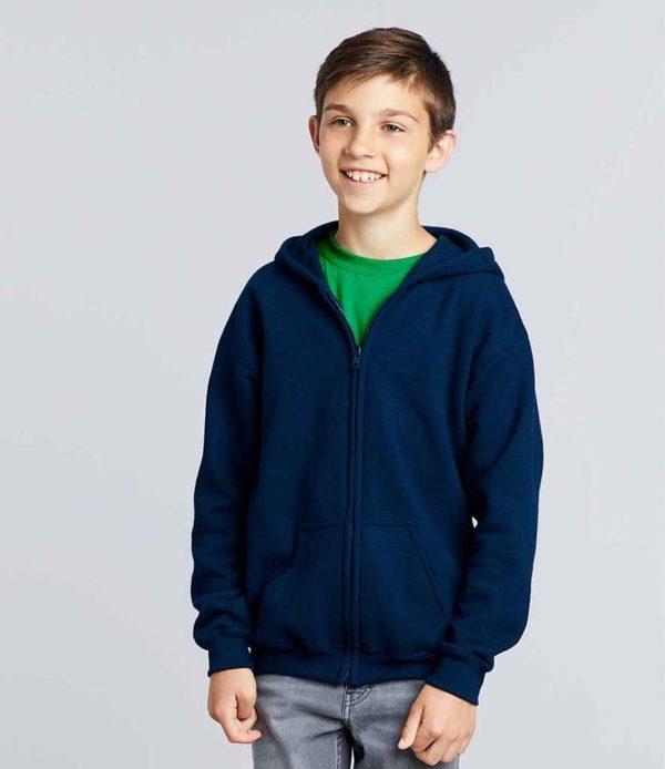 Gildan Kids Heavy Blend Zip Hooded Sweatshirt GD58B