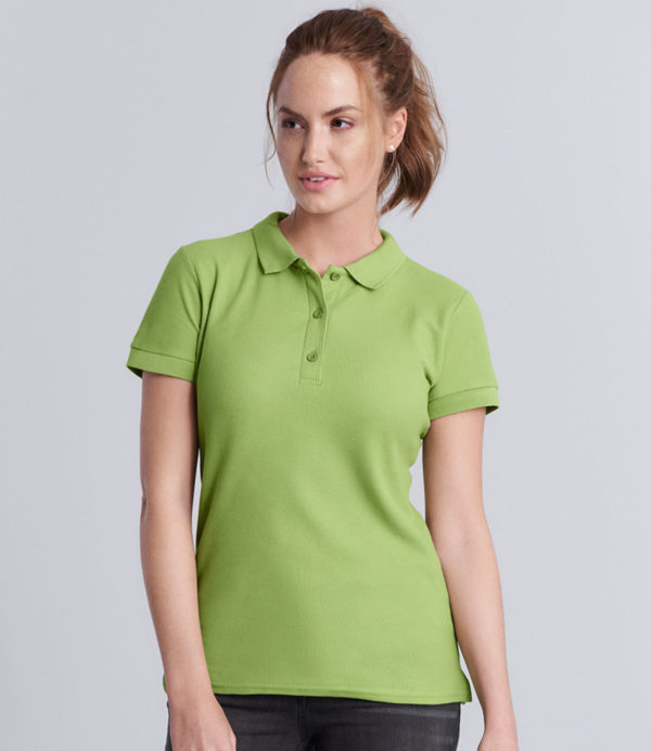Gildan Ladies Premium Cotton Double Pique Polo Shirt GD73