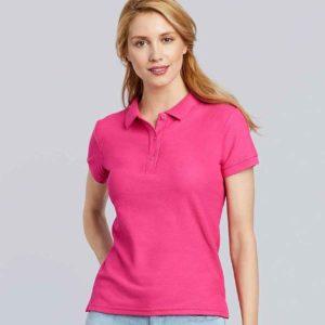 Gildan Ladies Premium Cotton Double Pique Polo Shirt GD73