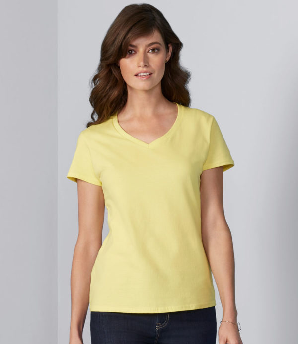 Gildan Ladies Premium Cotton V Neck T-Shirt GD91