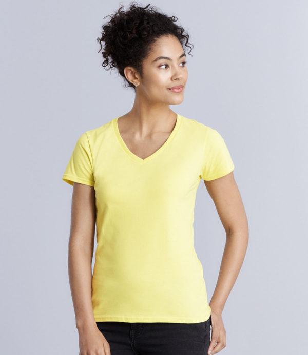 Gildan Ladies Premium Cotton V Neck T-Shirt GD91