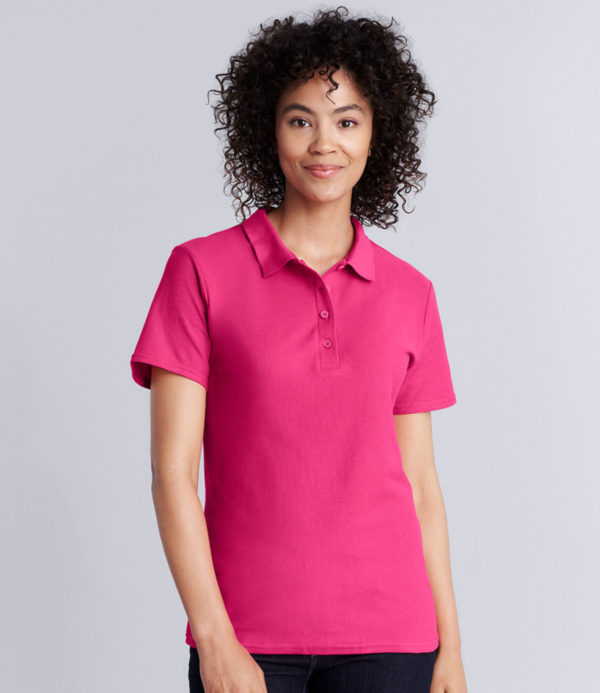 Gildan Ladies SoftStyle Double Pique Polo Shirt GD75