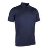 Glenmuir Plain Mercerised Polo Shirt GM42 Navy Blue