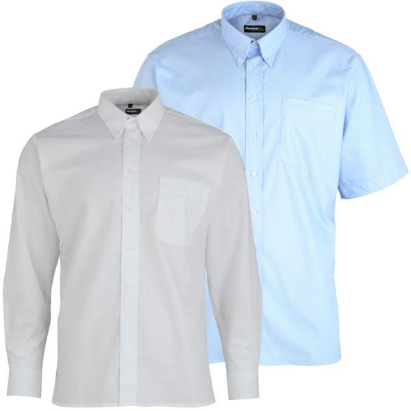 Hammertex Premium Oxford Shirt Button Down Collar