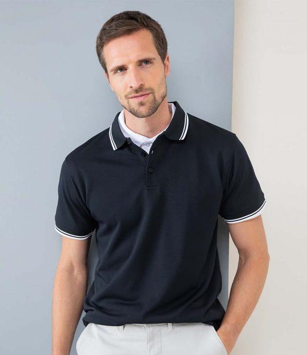 Henbury Coolplus Tipped Polo Shirt H482