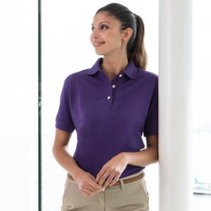 Henbury Ladies Classic Cotton Pique Polo Shirt H121