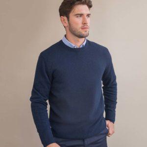 Henbury Lambswool Crew Neck Sweater H735