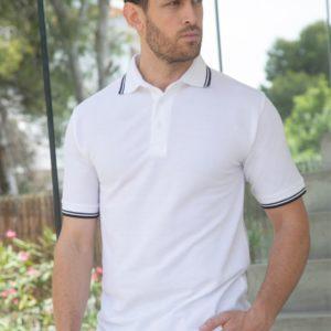 Henbury Tipped Poly/Cotton Pique Polo Shirt H450
