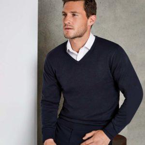 Kustom Kit Arundel Cotton Acrylic V Neck Sweater K352