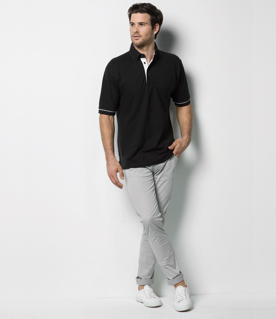 Kustom Kit Button Down Collar Contrast Pique Polo Shirt K449. 🔍. £16.97 ... 02c3acf4d5c