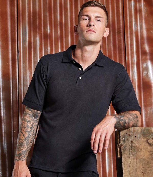 Kustom Kit Chunky Poly Cotton Pique Polo Shirt K407