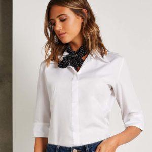 Kustom Kit Ladies 3/4 Sleeve Continental Blouse K715