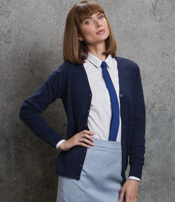 Kustom Kit Ladies Arundel Cotton Acrylic V Neck Cardigan K354