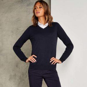 Kustom Kit Ladies Arundel Cotton Acrylic V Neck Sweater K353