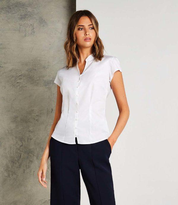 Kustom Kit Ladies Cap Sleeve V Neck Continental Blouse K727