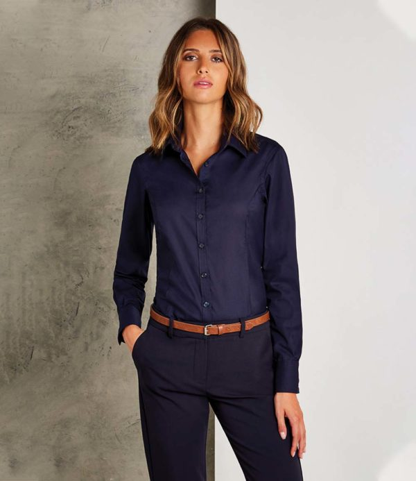 Kustom Kit Ladies Long Sleeve Business Shirt K743F